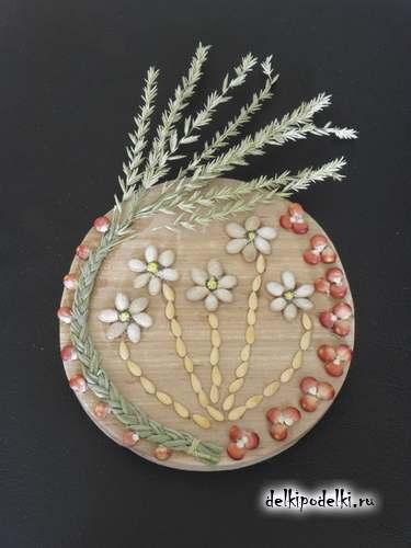 Поделки из зерен и семян