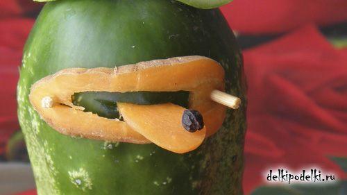 Какую поделку можно сделать из овощей в школу.